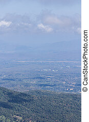 View chiangmai city form mon jam mountain