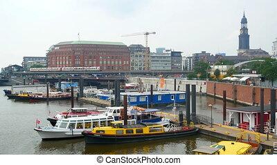 View city train aerial