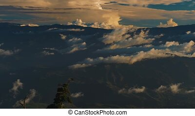 View Down From Irazu Volcano National Park, Costa Rica,...