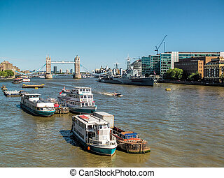 View down the River Thames