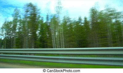 View driving on Highway in russia.