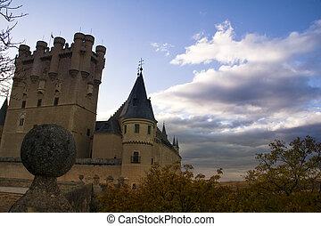 View fo Alcazar of Segovia