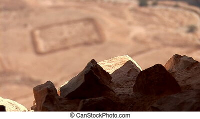 view form Masada