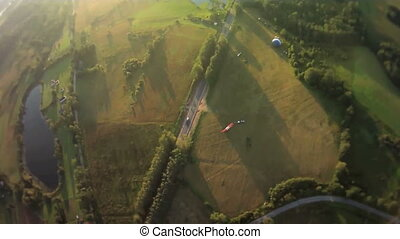 view from a balloon basket