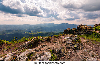 view from a cliff in to the valley. gorgeous landscape of...