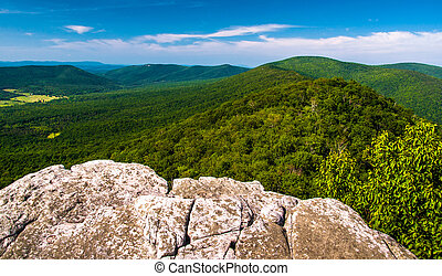 View from a cliff on Big Schloss, in George Washington National Forest, VA.