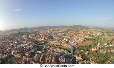 view from a hot air balloon european balloon festival, 2011,...
