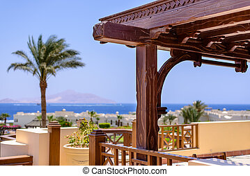 View from a luxury seaside resort