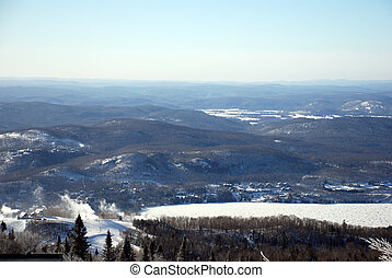 View from a ski hill