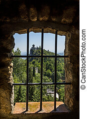 Republic of San Marino - View from a window in the fortress...
