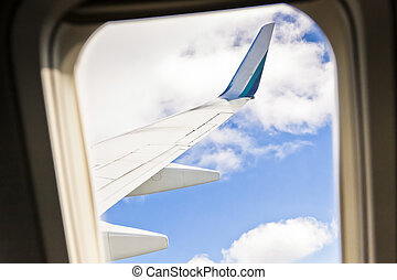 View from a Windowseat of an Airliner