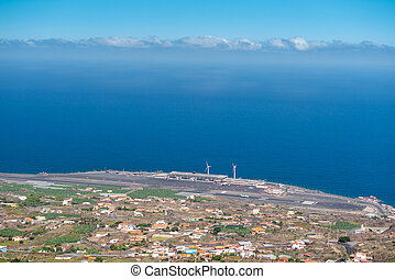 view from above of La Palma airport