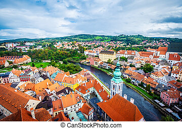 View from above on Krumlov - Amazing view from above on ...