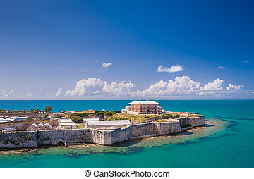 King's Wharf, Bermuda - View from above on the Commissioner'...