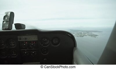 View from aircraft cabin shot