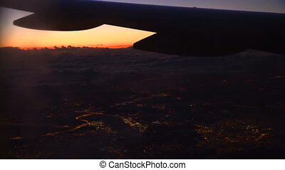 View from airplane flying