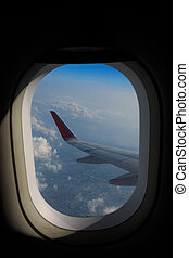 View from airplane window.