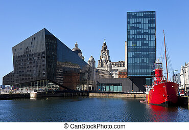 View from Albert Dock in Liverpool - A view from Albert Dock...