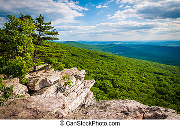 View from Annapolis Rocks, along the Appalachian Trail on...