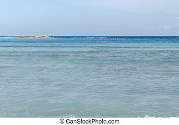 View from Baby beach on Aruba island