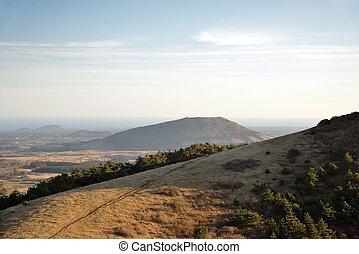 View from Baekyaki Volcanic cone in Jeju Island