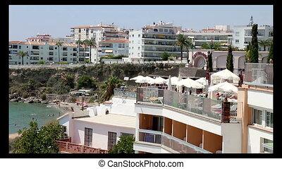 View from Balcon de Europa in Nerja, Spain