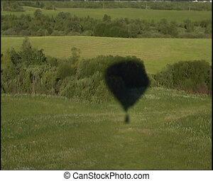 view from basket - russian hot air balloon sport...