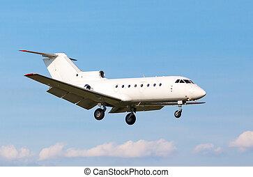 white private jet