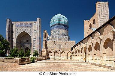 Bibi-Khanym mosque - Registan - Samarkand - Uzbekistan -...