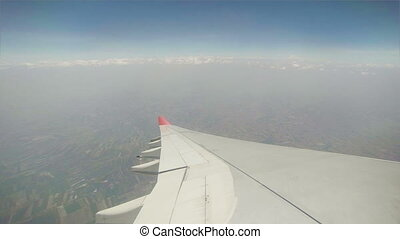 view from cabin of aircraft