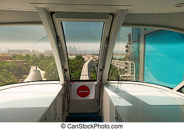 View from cabin of monorail train - View from cabin of...