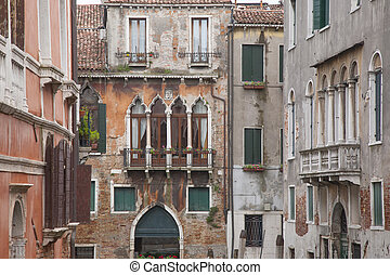 View from Calle Drio la Chiesa Street Bridge, Venice