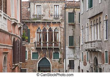 View from Calle Drio la Chiesa Street Bridge, Venice