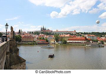 View from Charles bridge in Prague