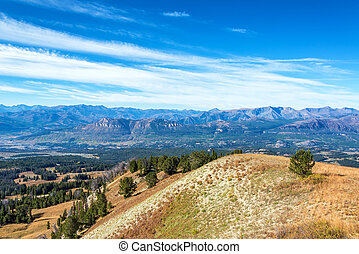 Beautiful view near Yellowstone National Park as seen from Clay Butte Overlook in Wyoming