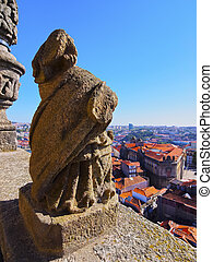 View from Clerigos Tower in Porto - View from Torre dos...