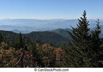 View from Clingmans Dome in the Great Smoky Mountains National Park