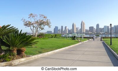 View from Coronado Island to downtown San Diego