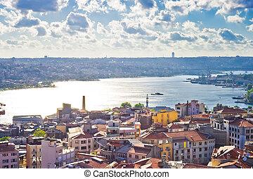 Golden Horn - View from Galata tower to Golden Horn,...