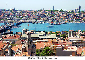 Istanbul - View from Galata tower to Istanbul, Turkey.