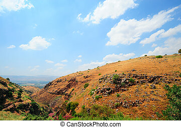 Golan Height - View From Golan Height, Israel, To Jordan...