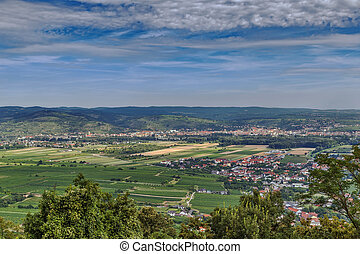 view from Gottweig Abbey hill, Austria