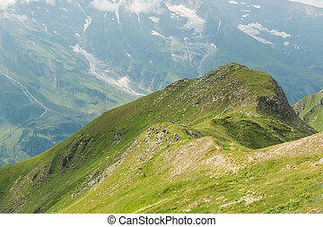 View from Grossglockner High Alpine Road on mountains