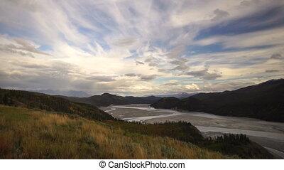 River Delta Wrangell St Elias Alaska - View from Hillside...