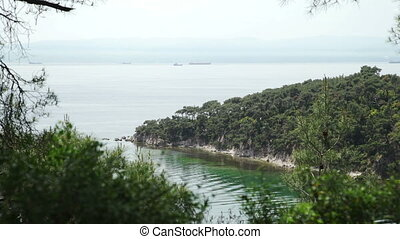 View from island on sea and island landscape - View from...