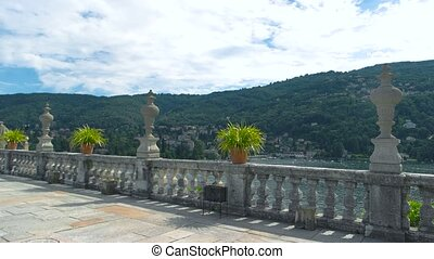 View from Isola Bella, summer. Maggiore lake and Stresa.