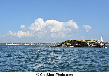 View from Jamestown in Rhode Island, USA