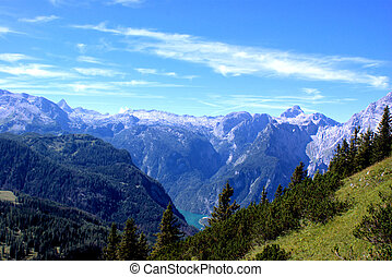 View from Jenner to the Koenigssee