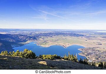 View from Jochberg in Bavaria Alps