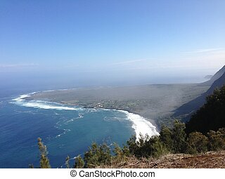 View from Kalaupapa Lookout in Molokai